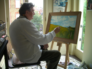 George West at his easel