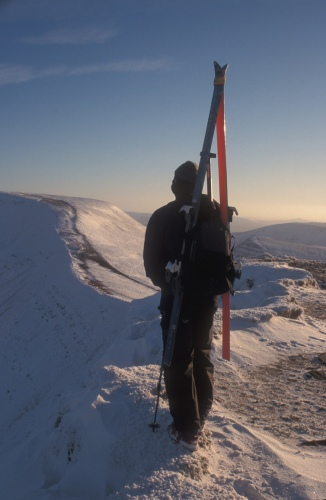 Skier on Corn Du