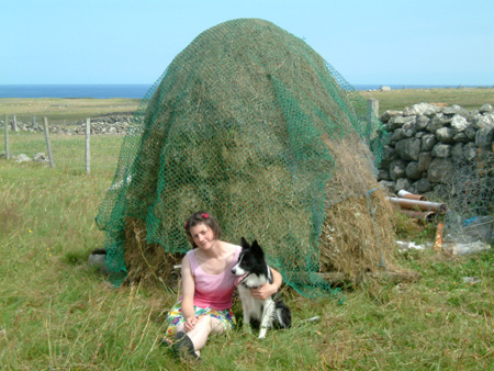 anne and bran at the haystack