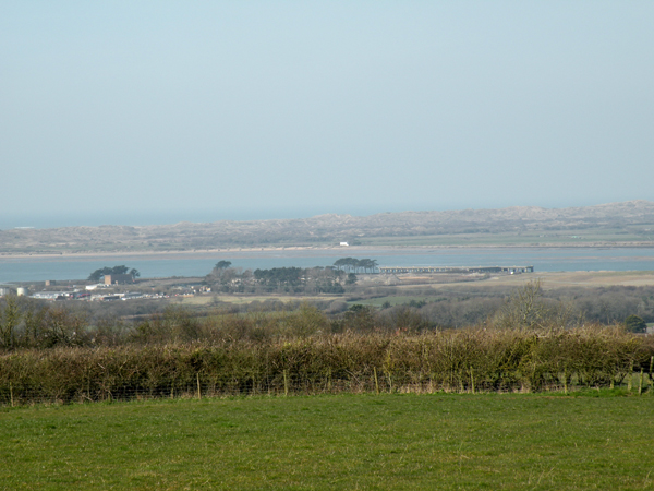White House, Braunton Burrows, from Bikletone turbine site