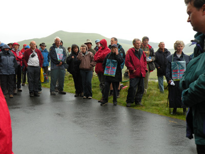 Assembling                 in the rain