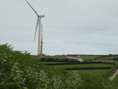 Turbine Number 6 with crane