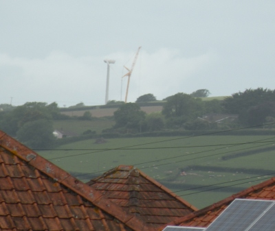 Crane seen from Sticklepath Hill, Barnstaple