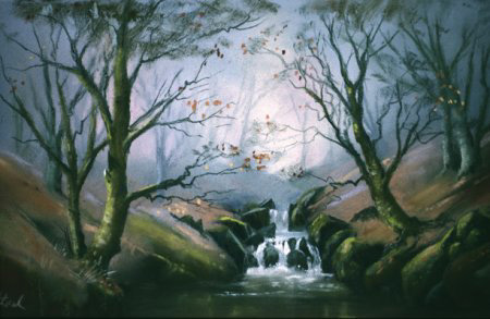 Woodland stream by Jenny Keal