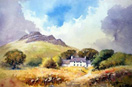 Carn Ingli, watercolour by David Bellamy
